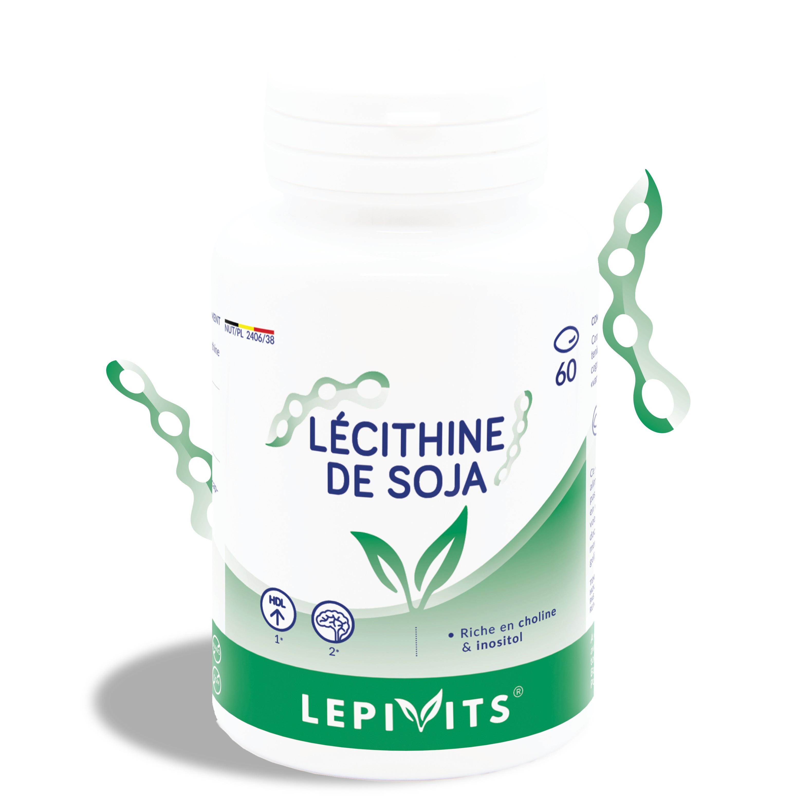 Lécithine de soja_60 capsules-LEPIVITS