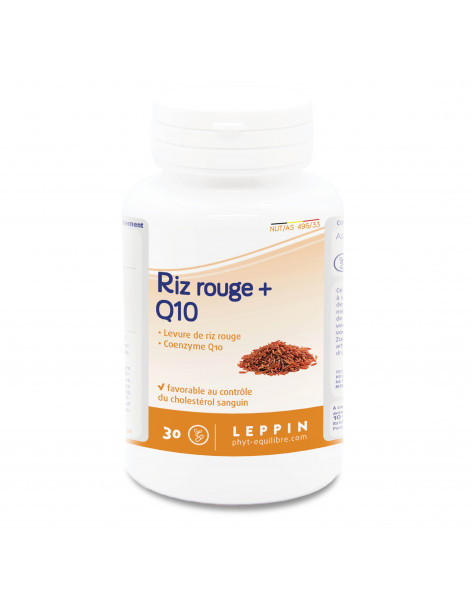 Riz rouge + Q10 -  30 Gels - LEPPIN